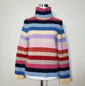 Old Navy turtleneck striped sweater